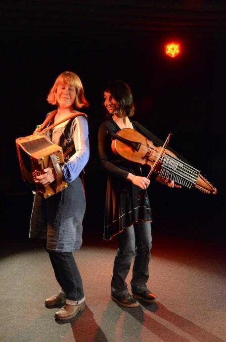 Un violon et un nyckelharpa